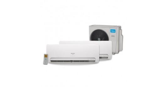 MULT SPLIT INV 2 EVAP HW 9000 1 EVAP k7 4W 9000 COM 1 COND 27000 BTUS QF